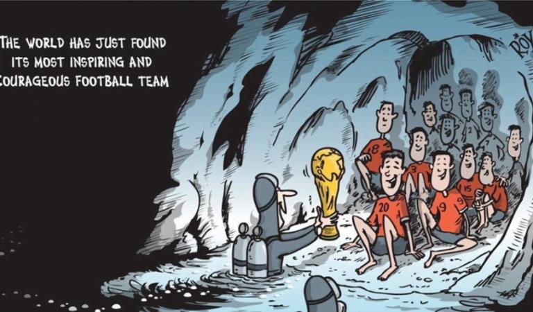 Το σκίτσο που συγκίνησε παγκοσμίως: Το Παγκόσμιο Κύπελλο στα παιδιά της Ταϊλάνδης